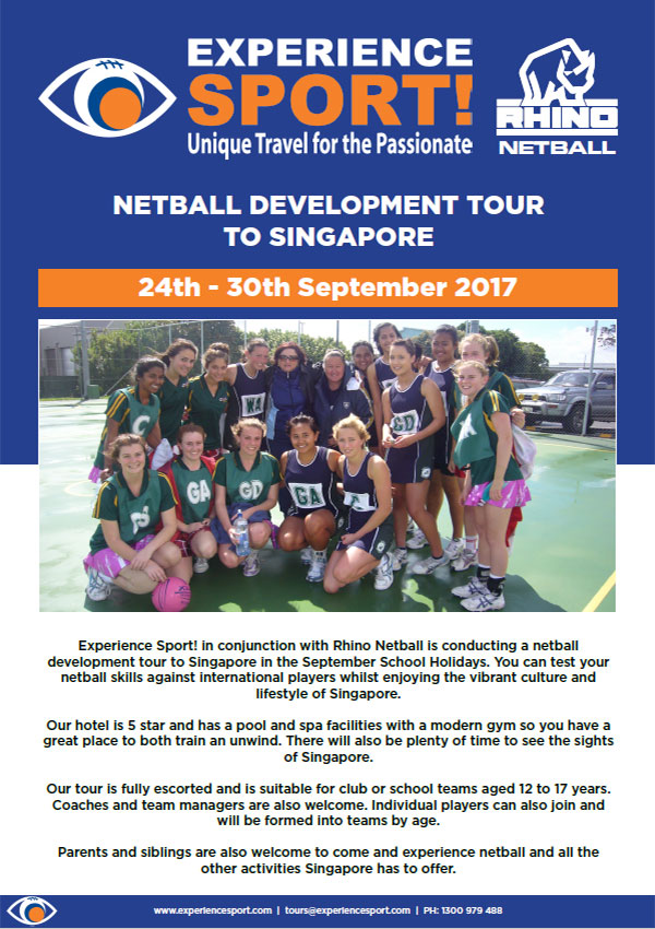 Netball Development Tour to Singapore
